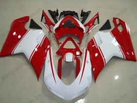 Ducati 848 / 1098 / 1198 2007-2009 Injection ABS Fairing - Others - White/Red