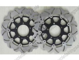 KAWASAKI ZX10R ZX14R ZZR1400 GTR1400 2008-2013 Front Brake Disc Rotor - Black
