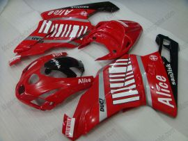 Ducati 749 / 999 2003-2004 Injection ABS Fairing - Alice - Red/White