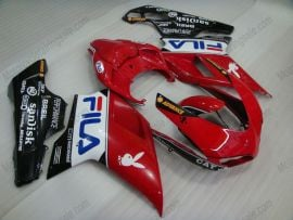 Ducati 848 / 1098 / 1198 2007-2009 Injection ABS Fairing - FILA - White/Red/Black