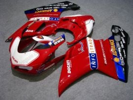 Ducati 848 / 1098 / 1198 2007-2009 Injection ABS Fairing - INFO STRADA - White/Red/Black