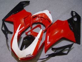 Ducati 848 / 1098 / 1198 2007-2009 Injection ABS Fairing - Others - Red/Black/White