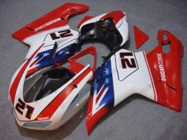 Ducati 848 / 1098 / 1198 2007-2009 Injection ABS Fairing - Xerox - Red/White