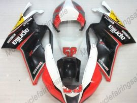 Aprilia RSV1000R 2004-2006 Injection  ABS Fairing - Others - Black/White/Red