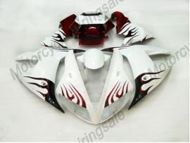 Yamaha YZF-R1 2002-2003 Injection ABS Fairing - Red Flame - White