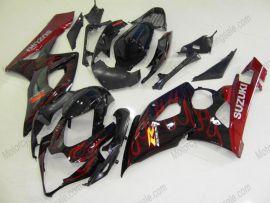 Suzuki GSX-R 1000 2005-2006 K5 Injection ABS Fairing - Red Flame - Black/Red