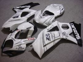 Suzuki GSX-R 1000 2007-2008 K7 Injection ABS Fairing - Corona - White/Black