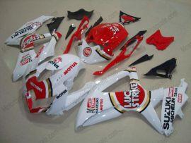 Suzuki GSX-R 600/750 2008-2010 K8 Injection ABS Fairing - Lucky Strike - White/Red