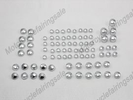 Harley New Twin Cam Road King FLH Model Bolt Toppers Cap - 1999-2006 - Chrome
