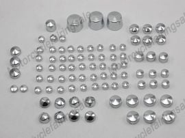 Harley Motorcycle Softail Twin Cam Bolt Toppers Cap - 2000-2006 - Chrome