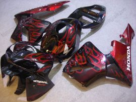 Honda CBR 600RR F5 2005-2006 Injection ABS Fairing - Flame - Red Flame(Black)