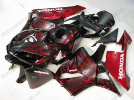 Honda CBR 600RR F5 2005-2006 Injection ABS Fairing - Red Flame  - Black