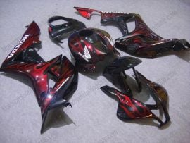 Honda CBR 600RR F5 2007-2008 Injection ABS Fairing - Red Flame  - Black