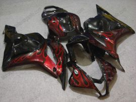 Honda CBR 600RR F5 2009-2012 Injection ABS Fairing - Red Flame - Black