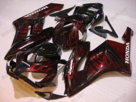 Honda CBR1000RR 2004-2005 Injection ABS Fairing - Flame - Black/Red