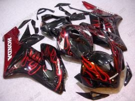 Honda CBR1000RR 2004-2005 Injection ABS Fairing - Red Flame - Black