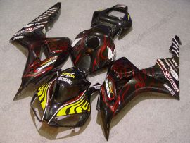 Honda CBR1000RR 2006-2007 Injection ABS Fairing - Red Flame - Black