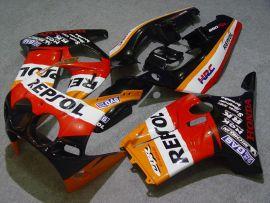 Honda CBR250RR MC19 1988-1989 Injection ABS Fairing - Repsol - Black/Red/Orange