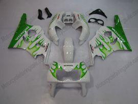 Honda CBR400RR NC29 1990-1998 ABS Fairing - Green Flame - Green/White