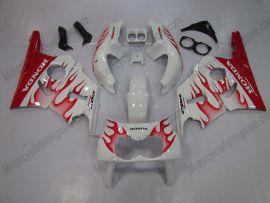 Honda CBR400RR NC29 1990-1998 ABS Fairing - Red Flame - Red/White