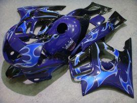 Honda CBR600 F3 1997-1998 Injection ABS Fairing - Blue Flame - Blue/Black