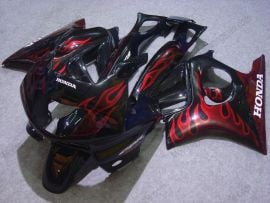 Honda CBR600 F3 1997-1998 Injection ABS Fairing - Red Flame - Black
