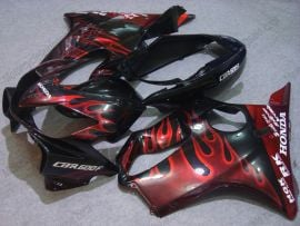 Honda CBR600 F4i 2004-2007 Injection ABS Fairing - Red Flame - Black