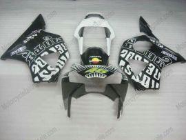 Honda CBR900RR 954 2002-2003 Injection ABS Fairing - Rossi - Black/White