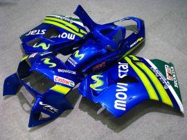 Honda VFR800 1998-2001 ABS Fairing - Movistar - Blue