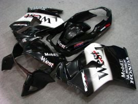 Honda VFR800 1998-2001 ABS Fairing - West - Black/White