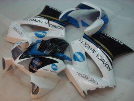 Honda VFR800 2002-2013 Injection ABS Fairing - Konica Minolta - Black/Blue/White