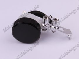 Oil Tank Universal Brake Clutch Fluid Reservoir Black