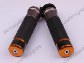 """Motorcycle Universal 22mm 7/8"""" Couple Handle bar Grips Golden Carbon Fabric Material"""