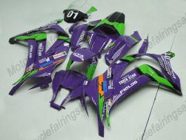 Kawasaki NINJA ZX10R 2011-2015 Injection ABS Fairing - Factory Style- Purple/Green