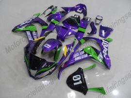 Kawasaki NINJA ZX10R 2011-2015 Injection ABS Fairing - Factory Style- Purple/Green/Black