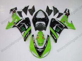 Kawasaki NINJA ZX10R 2006-2007 Injection ABS Fairing - Monster - Green/Black