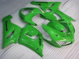 Kawasaki NINJA ZX6R 2005-2006 Injection ABS Fairing - Others - All Green