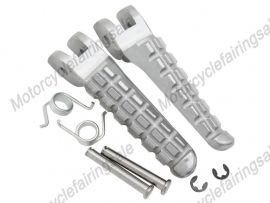 DUCATI 696 Front Footrests Foot Pegs - Silver