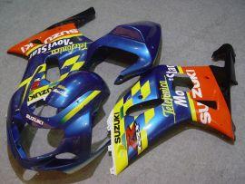Suzuki GSX-R 1000 2000-2002 K1 K2 Injection ABS Fairing - Movistar - Blue/Yellow/Orange