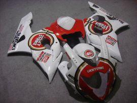 Suzuki GSX-R 1000 2005-2006 K5 Injection ABS Fairing - Lucky Strike - White/Red