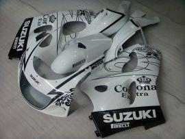 Suzuki GSX-R 600/750 1997-1999 ABS Fairing - Corona - White/Black