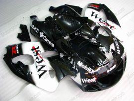 Suzuki GSX-R 600/750 1997-1999 ABS Fairing - West - Black/White