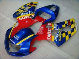 Suzuki GSX-R 600/750 2001-2003 K1 K2 Injection ABS Fairing - Movistar - Blue/Yellow/Red