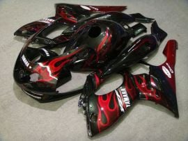 Yamaha YZF-600R 1994-2007 ABS Fairing - Red Flame - Black/Red