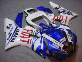 Yamaha YZF-R1 1998-1999 Injection ABS Fairing - FIAT - White/Blue