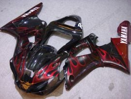 Yamaha YZF-R1 2000-2001 Injection ABS Fairing - Flame - Black/Red