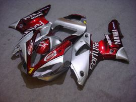 Yamaha YZF-R1 2000-2001 Injection ABS Fairing - Fortuna - Red/Silver