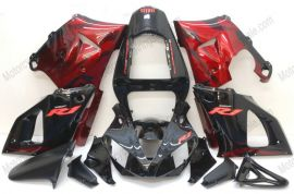 Yamaha YZF-R1 2000-2001 Injection ABS Fairing - Red Flame - Black