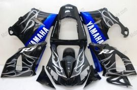 Yamaha YZF-R1 2000-2001 Injection ABS Fairing - White Flame - Black