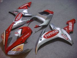 Yamaha YZF-R1 2002-2003 Injection ABS Fairing - Fortuna - Red/Silver